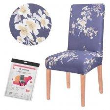 SPRINGOS Návlek na stoličku univerzálny - kvety