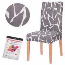SPRINGOS Návlek na stoličku univerzálny - sivo-biely