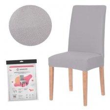 SPRINGOS Návlek na stoličku univerzálny - sivý