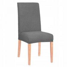 SPRINGOS Návlek na stoličku univerzálny - tmavo sivá mriežka