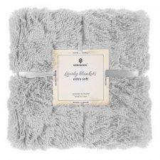 SPRINGOS Obojstranná vlnená deka 200x220cm - jasna sivá