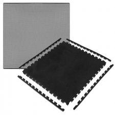 Springos obojstranné penové puzzle 100 x 100 x 2 cm - 1 ks - čierno-sivé