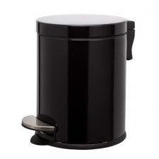 SPRINGOS Odpadkový kôš oceľový - čierny - 5L