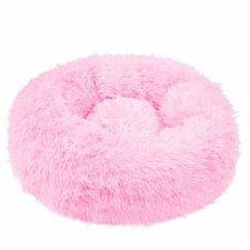 SPRINGOS Pelech pre psa a mačky plyšový 100cm - tmavo ružový