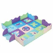 SPRINGOS Penové puzzle s ohradkou 30x30cm