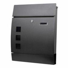 SPRINGOS Poštová schránka na listy a noviny oblúková čierna matná - 45x35x10,5cm