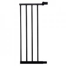 SPRINGOS Rozšírenie pre bezpečnostnú bariérovú zábranu pre schody a dvere - čierna - 28 cm