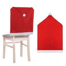 SPRINGOS Sviatočný návlek na stoličku - červená čiapka
