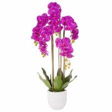 SPRINGOS Umelá orchidea v črepníku fialová - 105cm