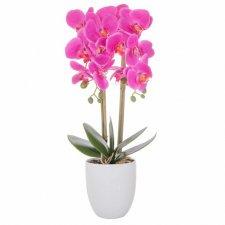 SPRINGOS Umelá orchidea v črepníku ružová - 55cm