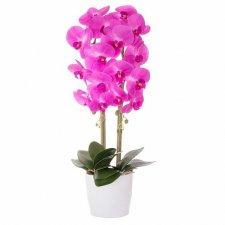 SPRINGOS Umelá orchidea v črepníku ružová - 70cm