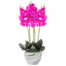 SPRINGOS Umelá orchidea v črepníku ružová - 75cm
