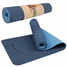 SPRINGOS Yoga podložka na cvičenie Premium - modrá - 183cm