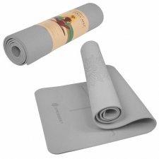 SPRINGOS Yoga podložka na cvičenie Premium - sivá - 183cm