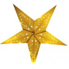 Vianočná LED svetelná ozdoba vnútorná - na batérie - Hviezda - 50CM - Teplá biela