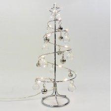 Vianočná LED svetelná ozdoba vnútorná - na batérie - Kovový stromček - 11x26CM - Teplá biela