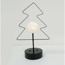 Vianočná LED svetelná ozdoba vnútorná - na batérie - stromček s guľou - Teplá biela