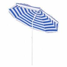 Záhradný slnečník 180cm, bielo-modrý