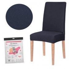 SPRINGOS Návlek na stoličku univerzálny - granátovo-sivá