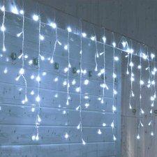 Vianočná LED svetelná záclona na spájanie vonkajšia - 200LED - 5M Studená biela