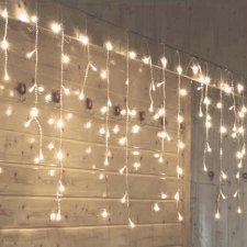 Vianočná LED svetelná záclona vonkajšia FLASH - 600LED - 10M Teplá biela/Studená biela