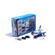 Detské lietadlo s policajnými vozidlami