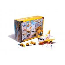 Detské lietadlo so stavebnými vozidlami