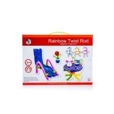 Farebné ohýbacie drôtiky Rainbow Twist Rod 100 dielikov