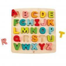 Vkladacie puzzle Veľká abeceda pastelová