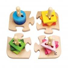 Kreatívna stavebnica 4 tvary a puzzle