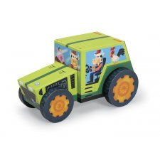 Puzzle s figúrkami Traktor 24ks