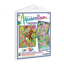 Aquarellum obrázky Exotické zvieratá 3ks
