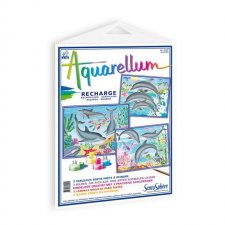 Aquarellum obrázky Delfíny 3ks