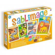 Sablimage - pieskové obrázky Africká fauna
