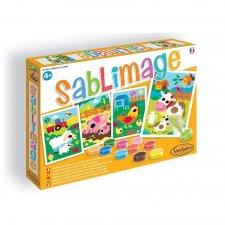Sablimage - pieskové obrázky Zvieratká z farmy