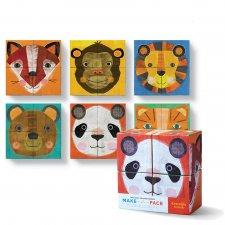 Kocky Tváre zvierat 4 ks