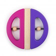 Magnetická hračka Chrobák fialová/ružová