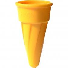 Kornútok na zmrzlinu do piesku žltý