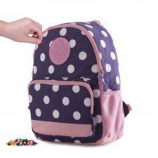 Batoh s guličkami modro-ružový malý 17 l