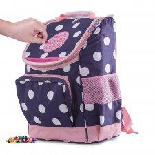 Školská taška s guličkami modro-ružová 21 l