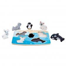 Hmatové puzzle Zvieratká zo severného pólu