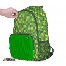 Batoh kockovaný zelený malý 17 l