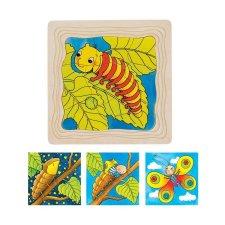 Puzzle Vývoj motýľa