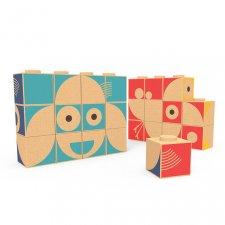Korkové puzzle kocky Zvieratká