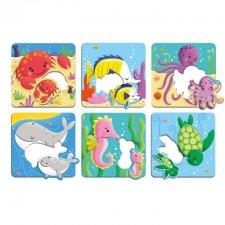 Vkladacie puzzle Morské mláďatá