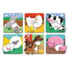 Vkladacie puzzle Mláďatá z farmy