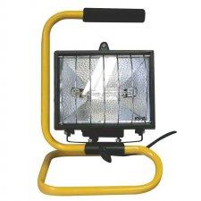 Halogénový reflektor s držiakom 500W čierny