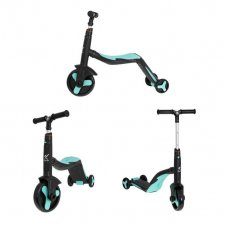 Trojkolka Mini Fix 3v1 - čierno-modrá