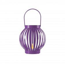 Lampáš s čajovou sviečkou, kovový, fialová