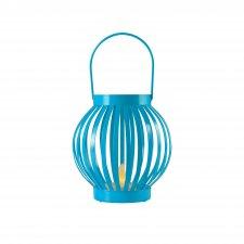 Lampáš s čajovou sviečkou, kovový, modrá